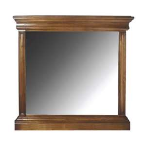 Valentino Wall Bedroom Mirror In Natural Wooden Frame