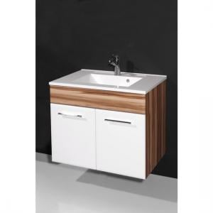 Marita Baltimore Walnut And White Bathroom Vanity