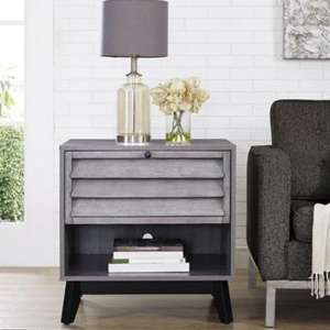 Vaughn Wooden Accent Side Table In Grey Oak