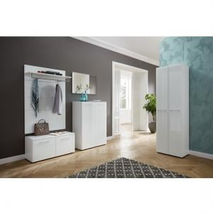 Vector Hallway Furniture Set 1 In White And Glass Fronts_1