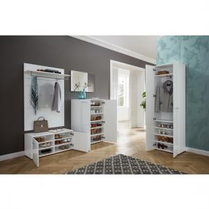 Vector Hallway Furniture Set 1 In White And Glass Fronts_2