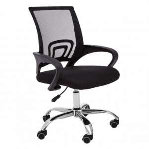 Velika Home And Office Chair With Armrest In Black