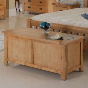 Velum Wooden Blanket Box In Chunky Solid Oak