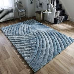 Verge Furrow Duck Egg Rug