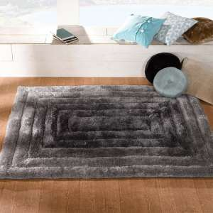 Verge Ridge Black And Grey Rug