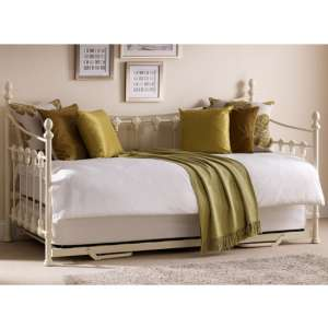 Versailles Metal Day Bed In Stone White