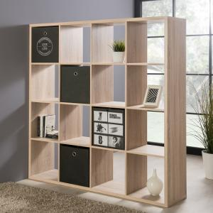 Version Shelving Unit Square In Sonoma Oak With 16 Compartments