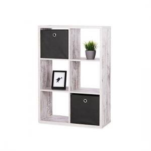 Version Shelving Unit In Fresco Oak With 6 Compartments