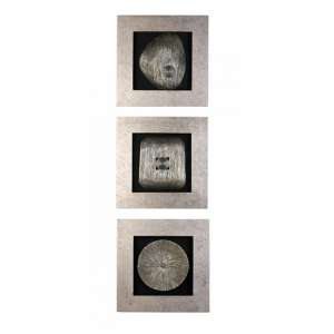 Versity Poly Picture Wooden Wall Art In Silver Wooden Frame