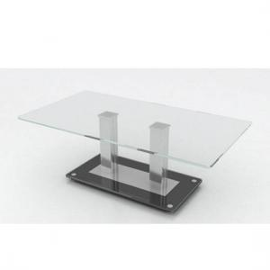 Verve Glass Coffee Table In With Black And Clear Base