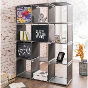 Vetra Shelving Unit In Anthracite With 12 Compartments