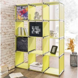 Vetra Shelving Unit In Apple Green With 12 Compartments