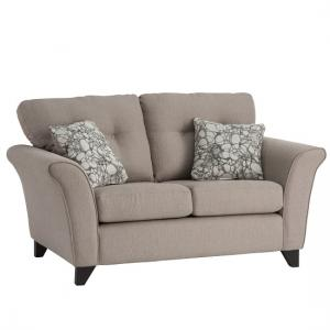 Vicenza Fabric 2 Seater Sofa In Oyster With Dark Feet