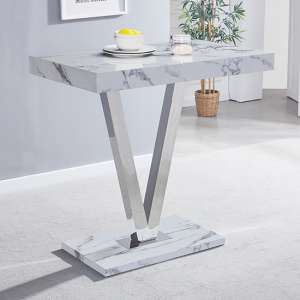 Vienna High Gloss Bar Table With Diva Print