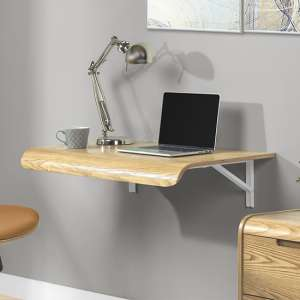 Vikena Drop Down Wooden Computer Desk In Oak