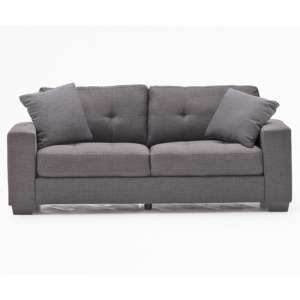 Vivaldi Fabric 3 Seater Sofa In Charcoal With 2 Scatter Cushions