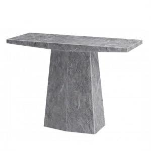 Vulcano Contemporary Marble Console Table Rectangular In Grey