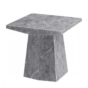 Vulcano Contemporary Marble Lamp Table Square In Grey