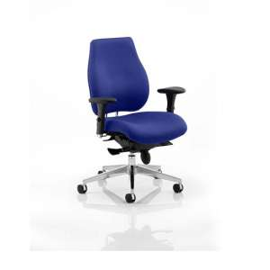 Wadena Office Chair In Stevia Blue With Removable Arms
