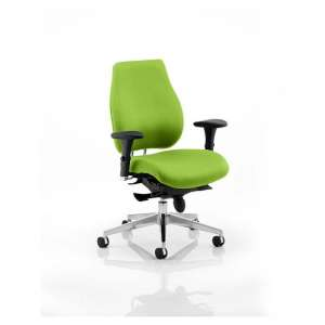 Wadena Office Chair In Myrrh Green With Removable Arms