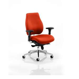 Wadena Office Chair In Tobasco Red With Removable Arms