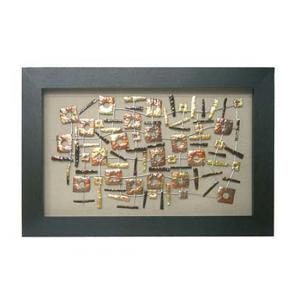 Framed Copper Squares Wall Art
