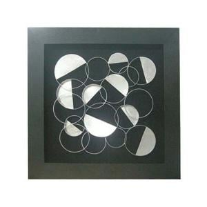 Framed Silver Discs Wall Art