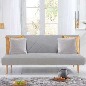 Waltom Linen Fabric Upholstered Sofa Bed In Grey