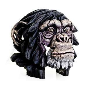 Wasat Chimpanzee Bust Edge Sculpture Ornament