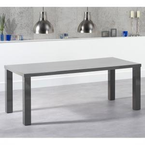 Washington 200cm Dining Table In Dark Grey High Gloss