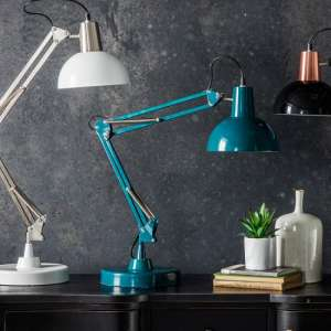 Watson Table Lamp In Teal Finish
