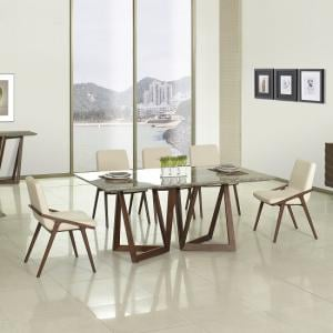 ... Webstar Marble Dining Table In Multicolor With Walnut Base_2 ... Part 97