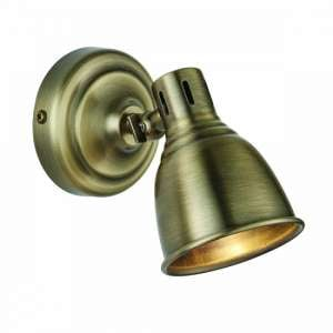 Westbury Wall Light In Antique Brass Finish