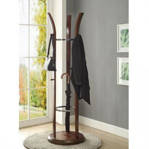 Westin Contemporary Revolving Coat Stand In Walnut