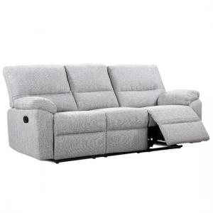 Westin 3 Seater Recliner Fabric Sofa In Sand And Zinc