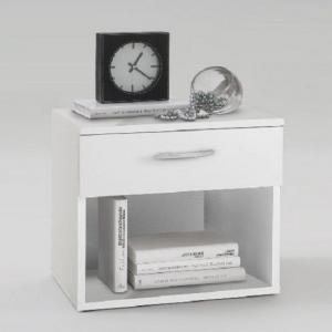 Jonny Bedside Cabinet In White With 1 Drawer