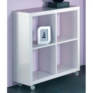 Cube Wheeled Display Unit In White