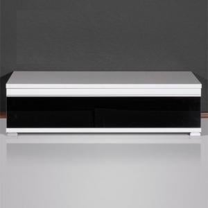 Energy Freestyle Plasma TV Stand In White With Gloss Black