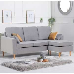 Whitro Linen Fabric Reversible Chaise Corner Sofa In Grey