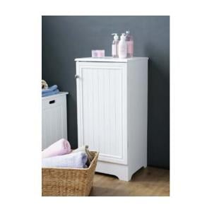 Wooden Bathroom Cabinet In White With 1 Door