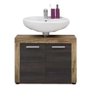 Wildon Wooden Vanity Cabinet In Walnut And Touch Wood Dark Brown