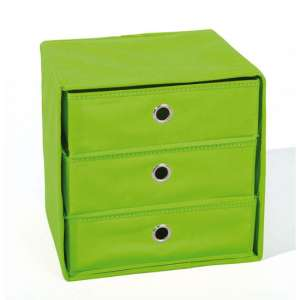 Willy Foldable Storage Box In Green With 3 Drawers