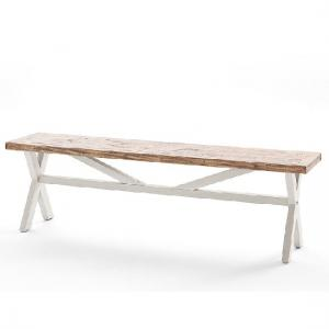 Wilson Wooden Dining Bench In White And Brown