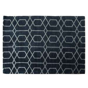 Winchester Large Fabric Upholstered Rug In Charcoal