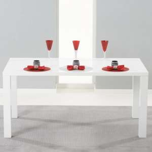 Windsor Dining Table Rectangular In White High Gloss