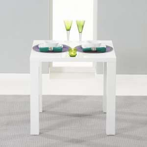 Windsor Dining Table Square In White High Gloss