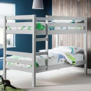 Winona Wooden Bunk Bed In Dove Grey Lacquer Finish