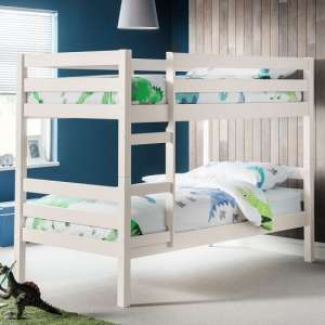 Winona Wooden Bunk Bed In Surf White Lacquer Finish