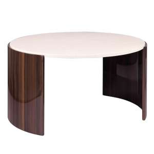 Winslow Coffee Table In Walnut And Cream High Gloss