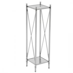 Witney Mirrored Glass Display Stand With Chrome Frame
